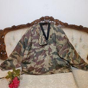 adidas Jackets & Coats - Adidas Windbreaker Camo Cropped Hoodie